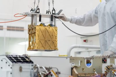 MOXIE installation on Mars rover Perseverance