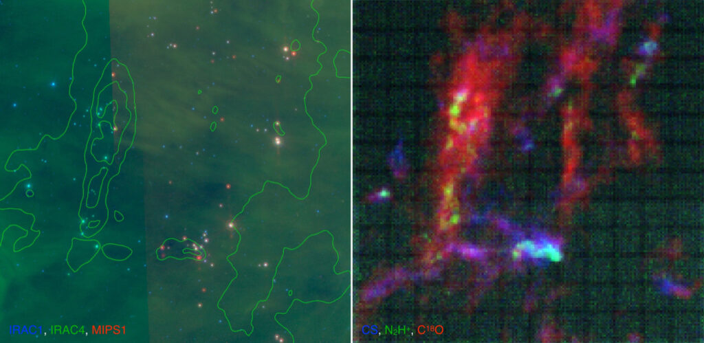 Observations of the L1641 region in the Orion Molecular Cloud