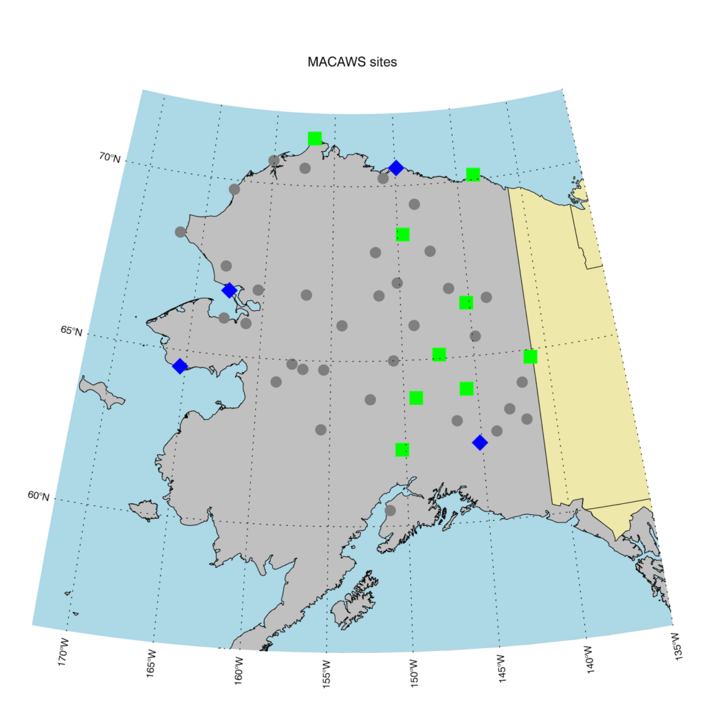 MACAWS sites in Alaska (2020)