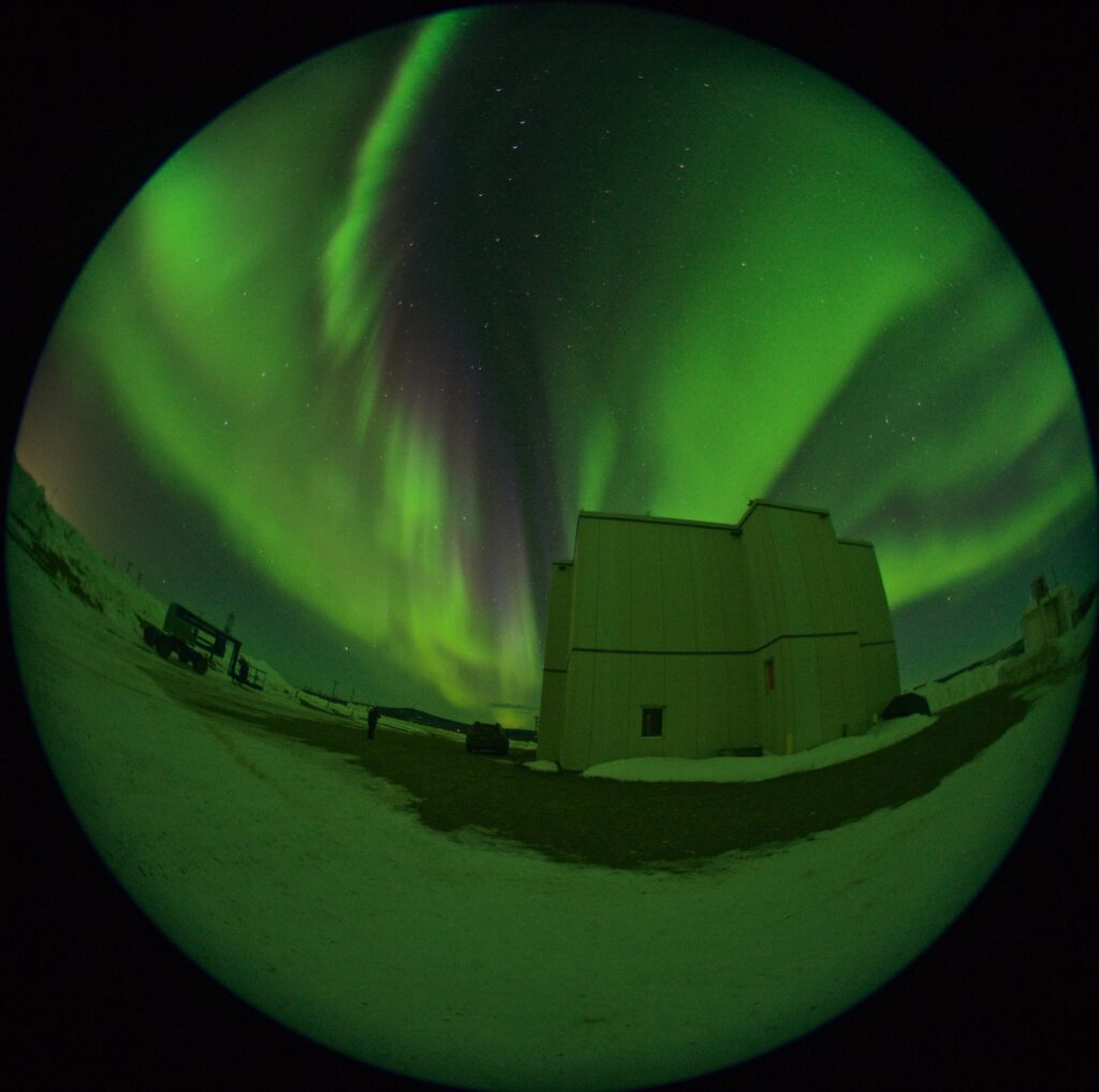 Auroral activity at a MACAWS site