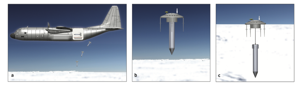 Antarctic ice penetrator deployment