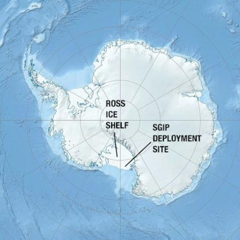 SGIP deployment site in Antarctica on the Ross ice shelf