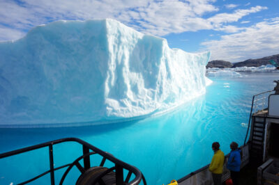 Iceberg as viewed from research ship