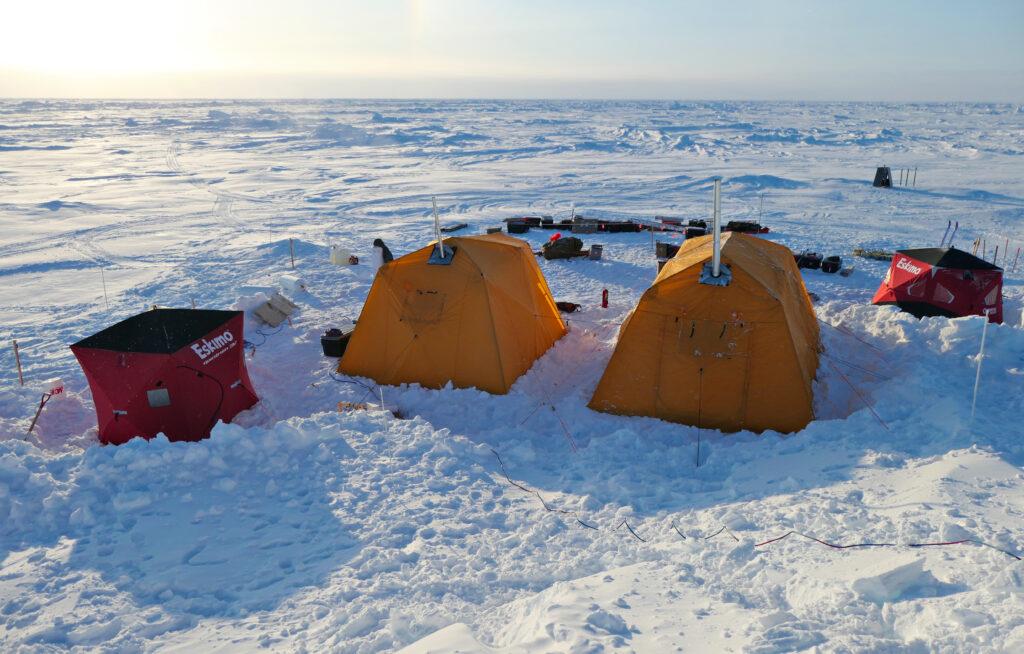 SIDEx camp on sea ice in the Beaufort Sea, northern Alaska